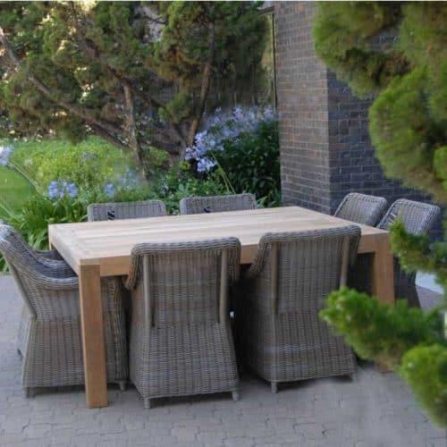 Viro wicker outdoor dining set