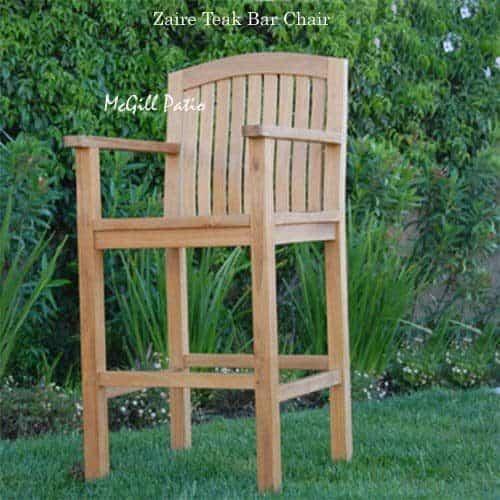 Zaire teak bar stool chair