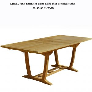Aegean Teak Outdoor 7 feet Rectangle Double Extension Table