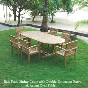 Aegean Teak Outdoor 7 feet Oval Extension Table