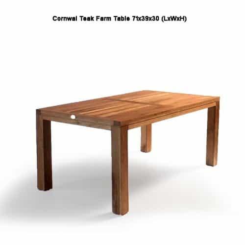 Teak farm outdoor dining table