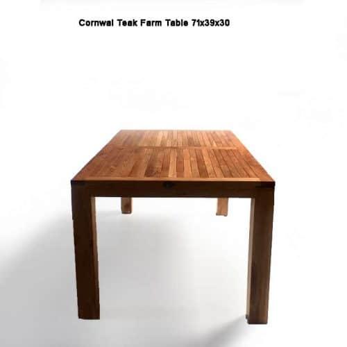 Teak outdoor rectangle farm dining table