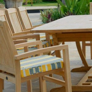 11 pc Teak Outdoor Dining Table Set – Titan Table & Tenafly Stacking Chair