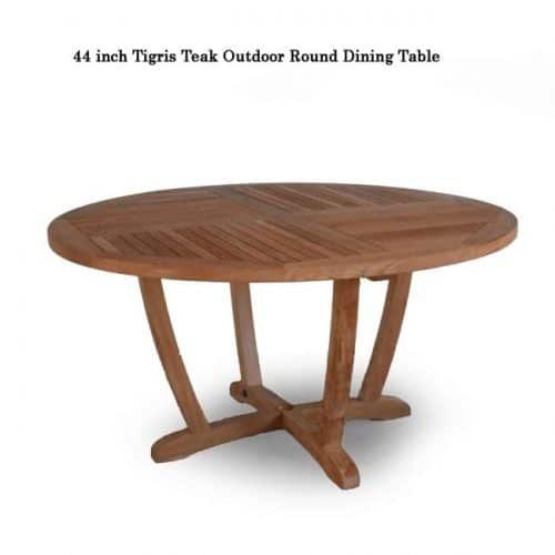 Teak outdoor round table