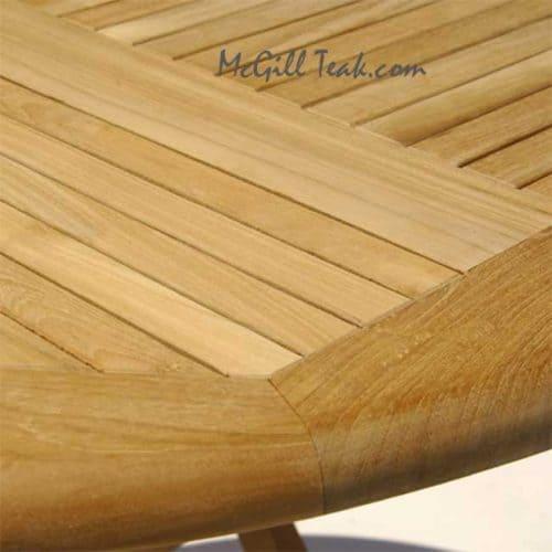 Tigris teak round table
