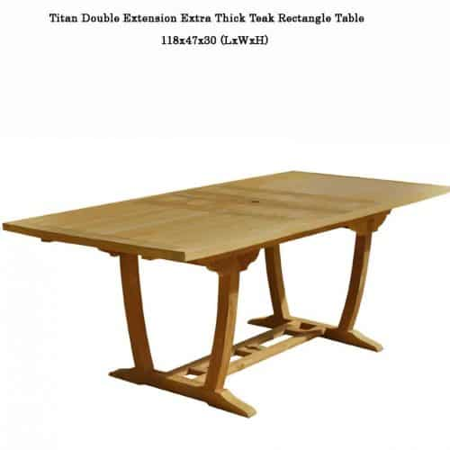Titan teak extension table
