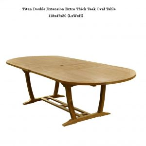 10 feet Teak Outdoor Patio Double Extension Oval Table – Titan