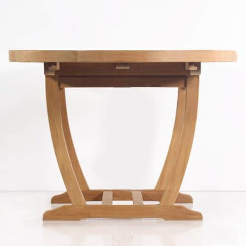 Teak extension table oval