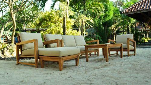 Teak deep seat lounge set- alfani