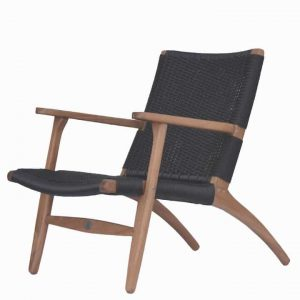 Outdoor Lounge Club Chair – The Rope Chair Black