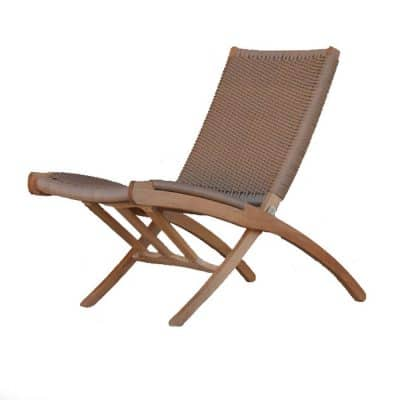 Aksel Mid century Teak folding Club chair – Natural Tan color
