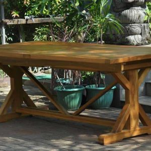 Teak Garden Table Set – Heritage Rectangular Extension Table & Zaire Arm Chairs