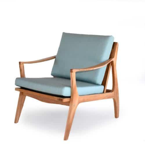 Mid century modern teak club chair