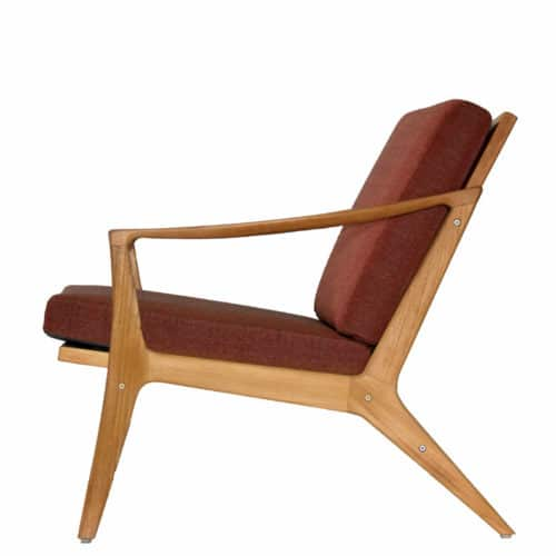 Teak Danish mid century club chair