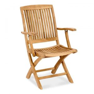patio dining folding arm chair