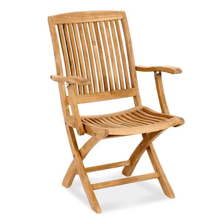 Teak Outdoor Folding Arm Chair Blaze