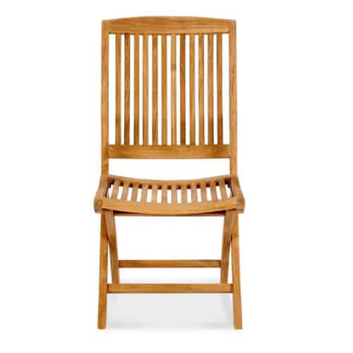 Blaze teak folding side chair