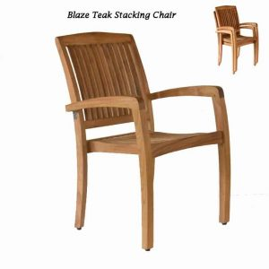 Teak Patio Stacking Dining Chair – Blaze