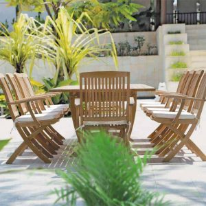 Teak Outdoor Folding Arm Chair – Blaze