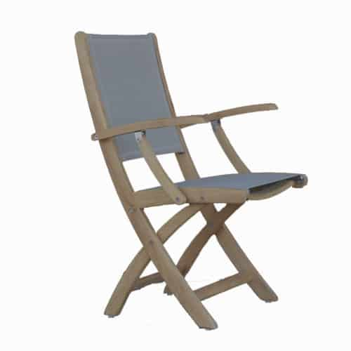 Sling patio dining Arm chair