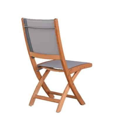 Teak Sling Patio Folding Side Chair – Rivera