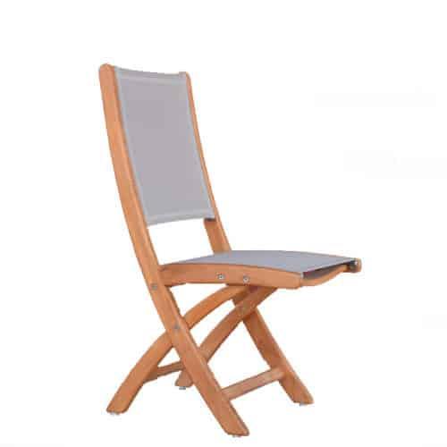 Portable teak sling chair