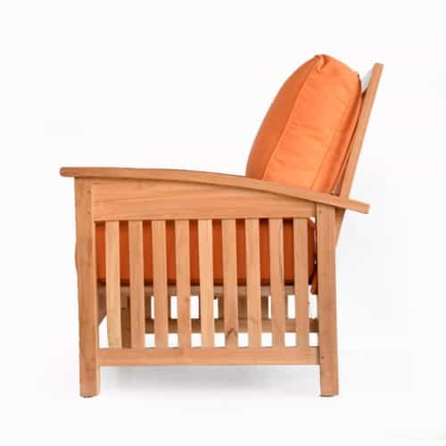 Mission style outdoor club chair