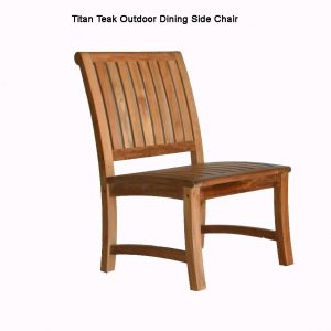 Teak Outdoor Dining Side Chair – Titan