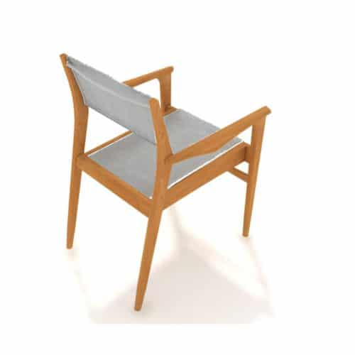 Teak sling dining chair