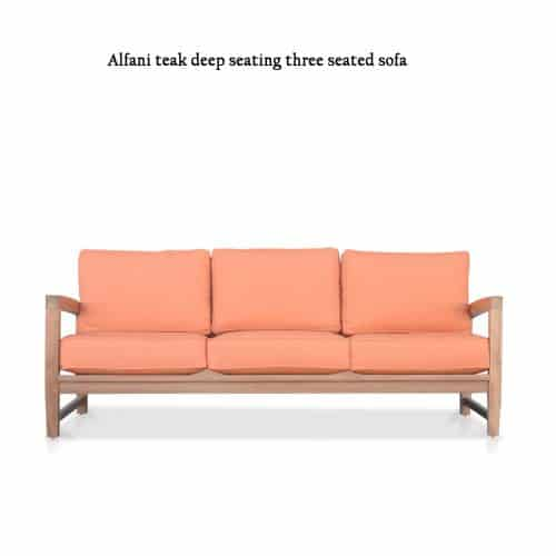 Alfani deep seating teak sofa