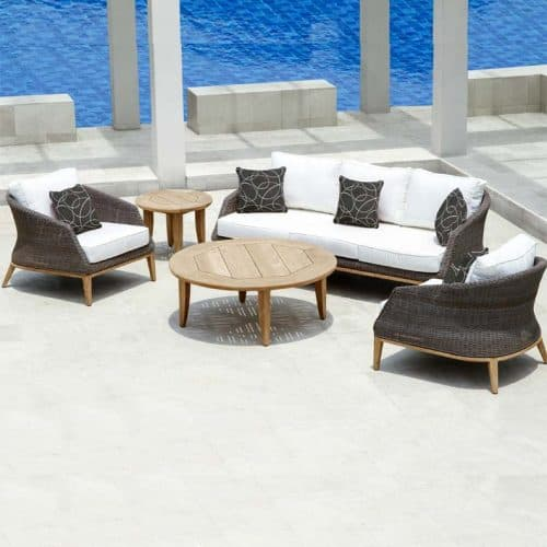 modern wicker outdoor set