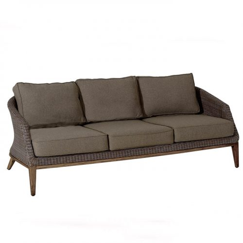 Grace teak wicker outdoor sofa