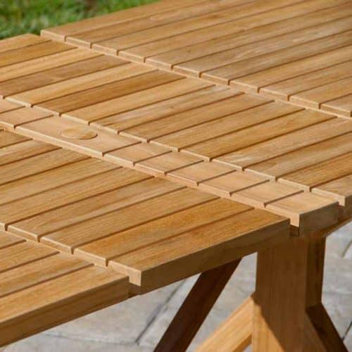 Teak heritage beam extension table