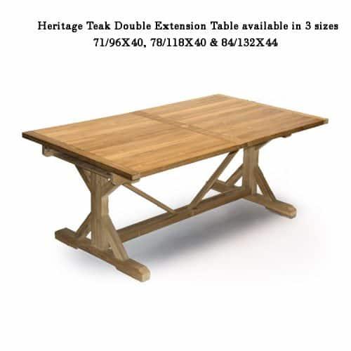 Heritage teak beam extension table