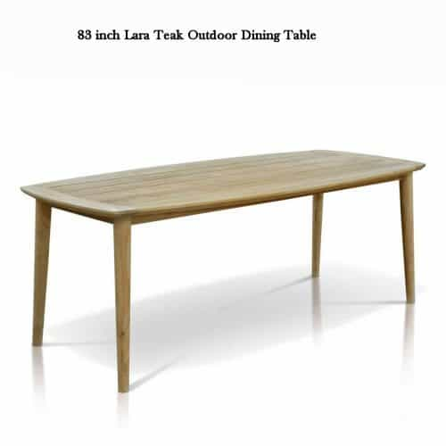 Lara teak patio dining table 1