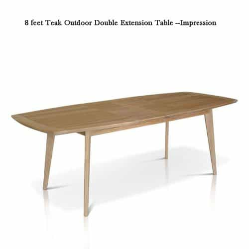 Mid century Teak Patio dining table Expression 1