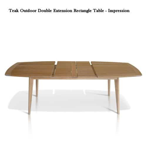 Mid century Teak Patio dining table Expression 2