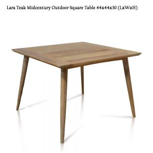 44 inch Mid century Modern Square Outdoor Dining Table – Lara