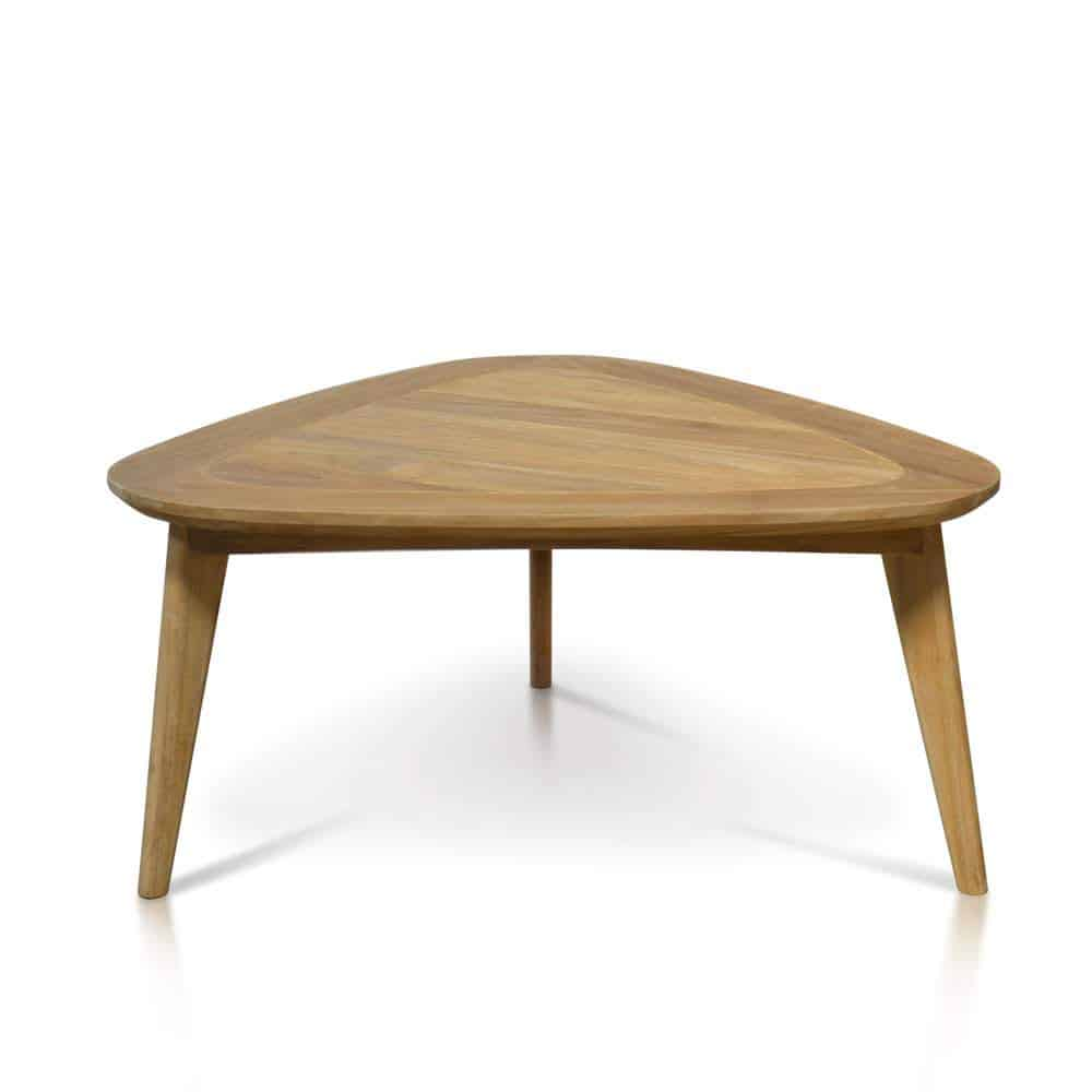 Mid Century Modern Teak Outdoor Triangle Coffee Table