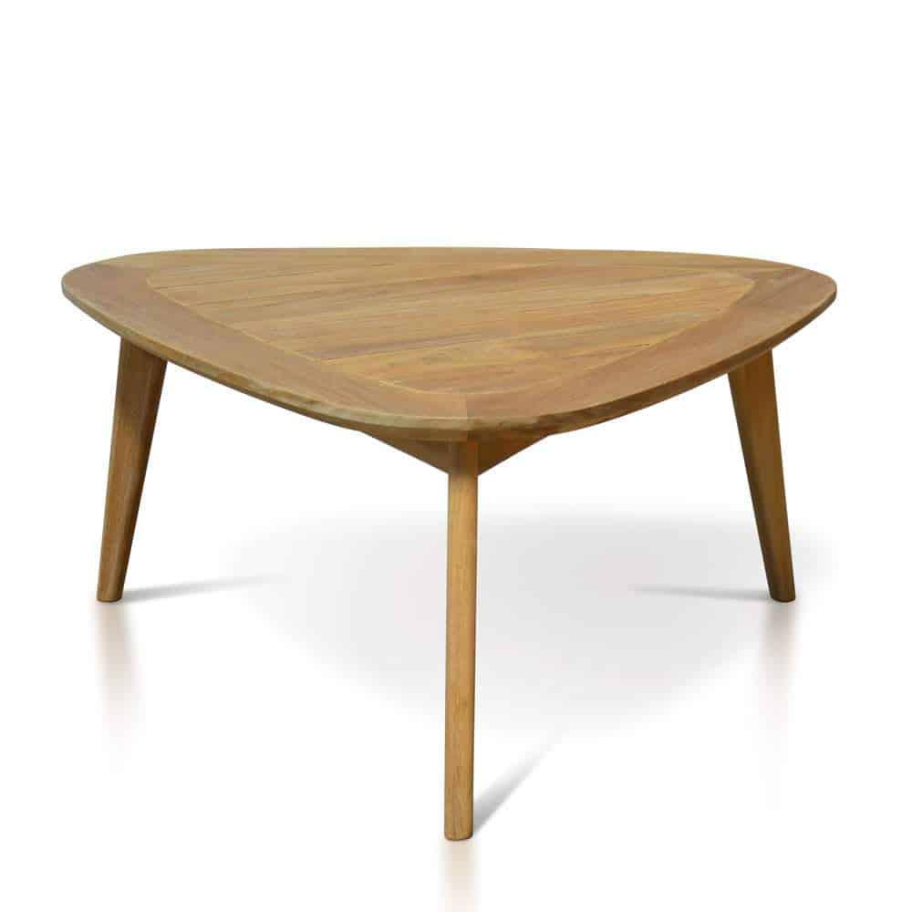 Mid century Modern Teak Outdoor Triangle Coffee Table ...