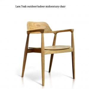 Mid Century Modern Teak Patio Dining Arm Chair – Lara