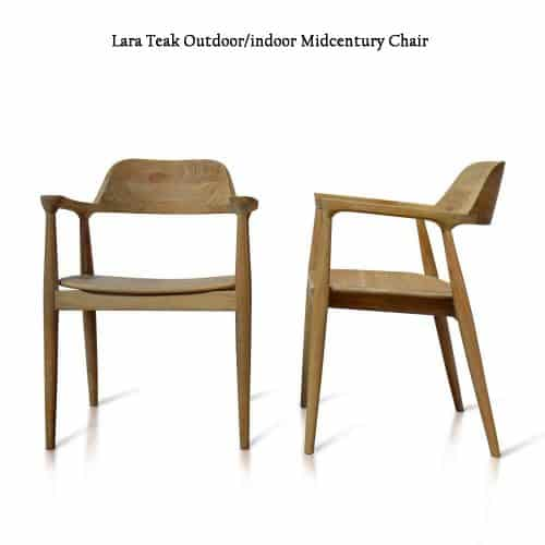 Midcentury sleek teak arm chair