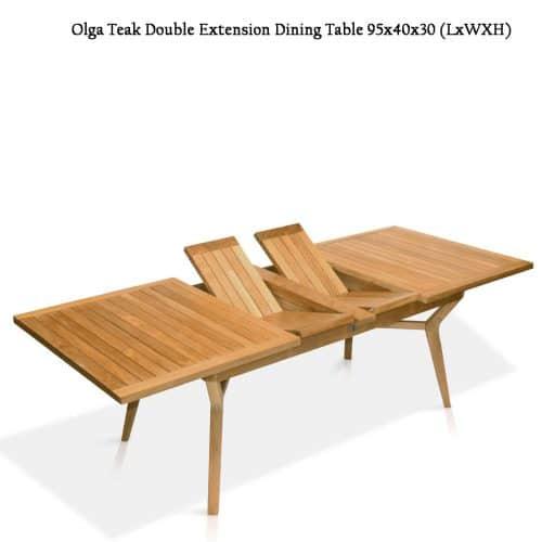 Olga teak rectangle patio table
