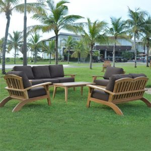 Teak Outdoor Deep Seating Three Seated Sofa – Olympia