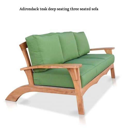 Olympia Adirondack teak sofa-1
