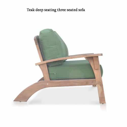 Olympia Adirondack teak sofa