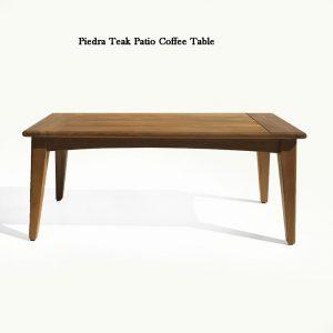 Modern Teak Conversation Lounge Coffee Table – Piedra