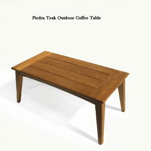 Piedra teak patio coffee table
