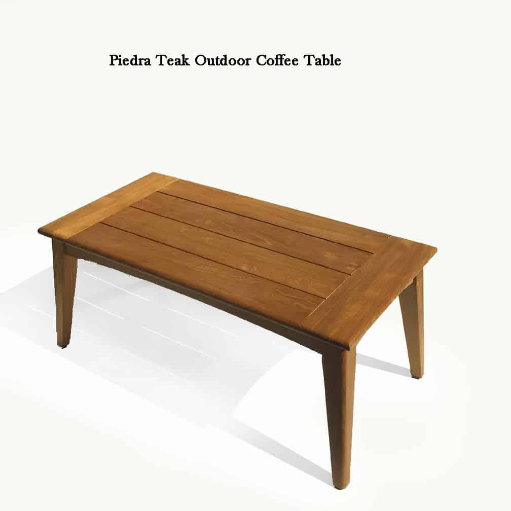 Modern Teak conversation lounge Coffee Table – Piedra ...
