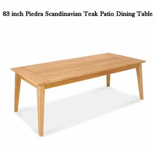 Piedra teak patio dining table 1